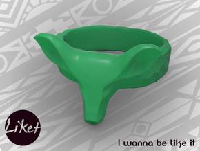 Wild Doe ring size 5 in Green Processed Versatile Plastic
