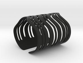 Strands Bracelet in Black Natural Versatile Plastic