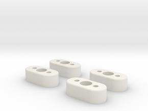 DJI Phantom 1 2 Vision+ 10mm Taller Landing Gear in White Natural Versatile Plastic