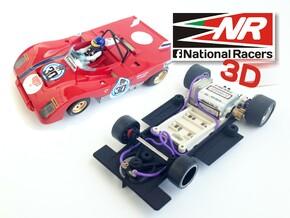3D chassis - SRC Ferrari 312 PB V1.0 (SW) in Black Strong & Flexible