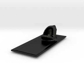 Seafood Shark Plate in Matte Black Porcelain