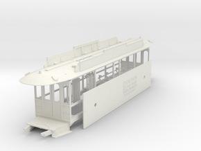 Auckland 1929 Tram - O Scale 1:43 (Part B) in White Strong & Flexible
