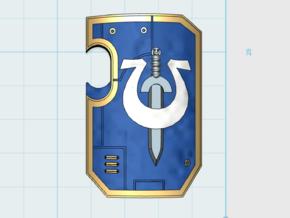 10x Ultra Legion - Marine Boarding Shields w/Hand in Frosted Ultra Detail