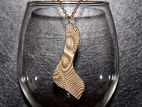 Texture #3 Pendant in Raw Brass