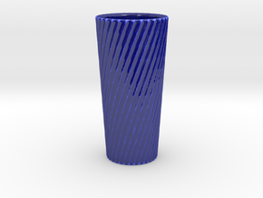 Customizable Twisted Vase in Gloss Cobalt Blue Porcelain
