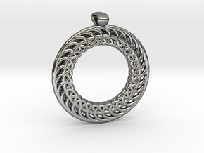 Necklace in Fine Detail Polished Silver