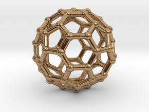 Buckyball pendant in Polished Brass