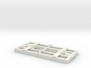 On30 Flat Car Frame Base 14 Ft  in White Natural Versatile Plastic
