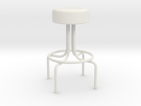 1-12 Metal Diner Stool (not full size) in White Strong & Flexible
