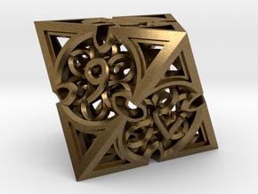 Gothic Rosette d8 in Natural Bronze