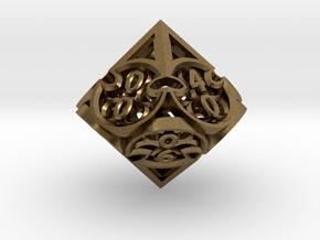 Gothic Rosette d10 Decader in Natural Bronze