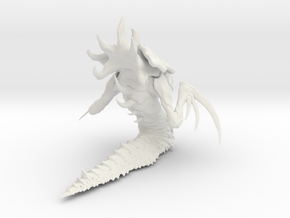 1/12 Hydralisk Monster for Diorama Scale Modeling in White Natural Versatile Plastic