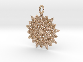 Shine Pendant in 14k Rose Gold Plated Brass