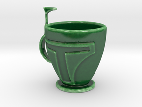 Boba Fett Tea\Coffee Cup in Gloss Oribe Green Porcelain