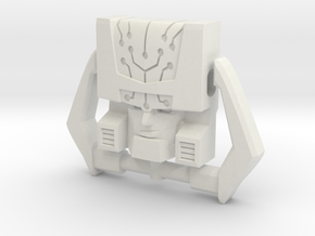 Headmaster, G1 Smirking Face (Titans Return) in White Natural Versatile Plastic