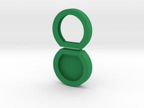 Key cap - test 2 in Green Processed Versatile Plastic