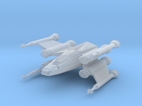 Space Fighter in Smooth Fine Detail Plastic