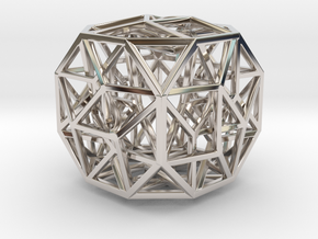 The Cosmic Cube Small in Rhodium Plated Brass