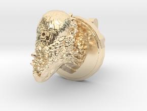 Pachycephalosaurus Head Cufflink in 14K Yellow Gold