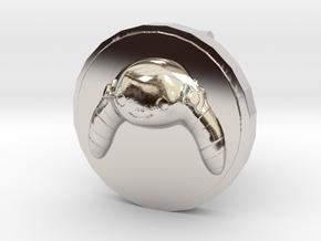 Lu Cufflink in Platinum