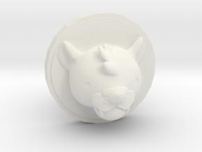 Milo Cufflink in White Natural Versatile Plastic