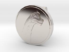 Sauroposeidon Cufflink in Rhodium Plated Brass
