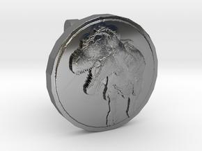 T-rex Cufflink in Fine Detail Polished Silver