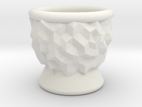 DRAW goblet - inverted geode in White Natural Versatile Plastic: Small