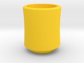 Simplecurve Cup in Yellow Processed Versatile Plastic