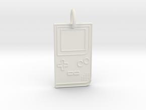 Game Boy 1989 Pendant in White Natural Versatile Plastic