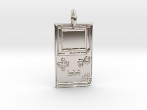 Game Boy 1989 Pendant in Platinum