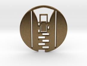 Zipper Pull No.1 Keychain in Natural Bronze