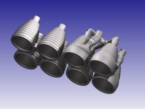 Saturn I H-1 Engines (1:200) in Smooth Fine Detail Plastic