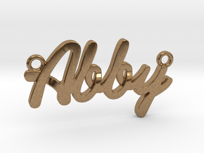 """Name Pendant - """"Abby"""" in Natural Brass"""