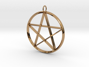 Star Necklace in Polished Brass