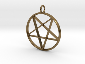 Eastern Star Pendant in Polished Bronze