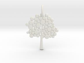 Tree Pendant in White Natural Versatile Plastic