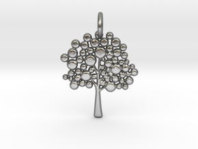 Tree Pendant in Natural Silver