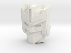 Optimus Primal/Convobat Face (Titans Return) in White Natural Versatile Plastic