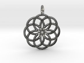 Pendant C# in Natural Silver