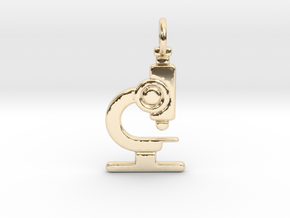 Microscope No.2 Pendant in 14K Yellow Gold