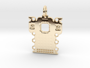 Electronics Pendant in 14K Yellow Gold
