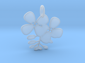 Flower No.2 Pendant in Smooth Fine Detail Plastic