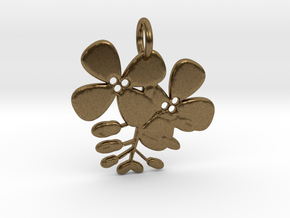 Flower No.2 Pendant in Natural Bronze
