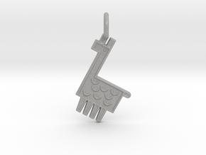 Llama Pendant in Aluminum
