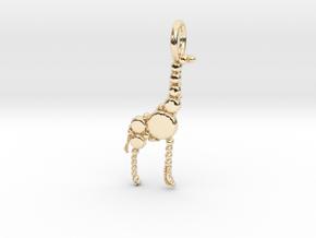 Giraffe Pendant in 14k Gold Plated Brass
