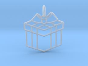 Present Pendant in Smooth Fine Detail Plastic