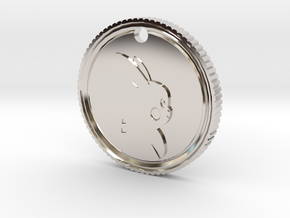 PokeCoin Medal in Rhodium Plated Brass