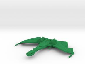 1/2500 QuD (Insurrection) Frigate - Cruise mode in Green Processed Versatile Plastic