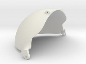 100mm LowerLid  in White Natural Versatile Plastic